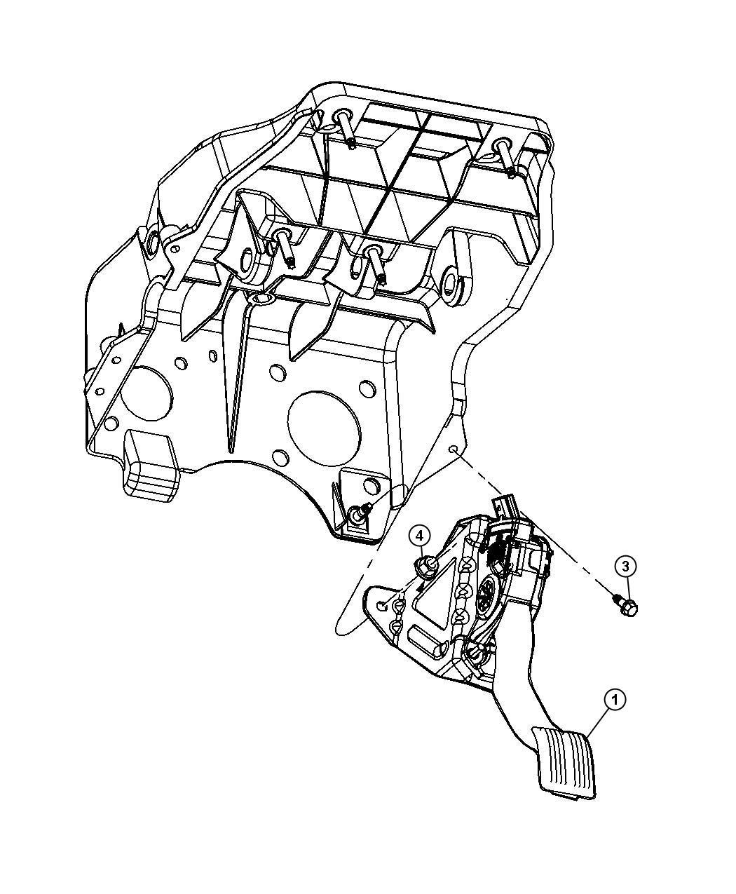 2013 Dodge Ram 2500 Pedal  Accelerator