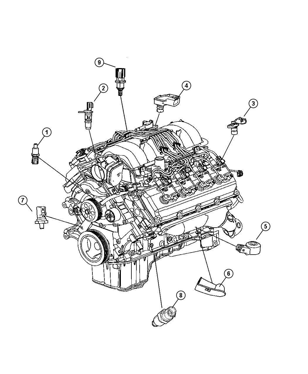 2008 Jeep Grand Cherokee Sending Unit  Oil Pressure