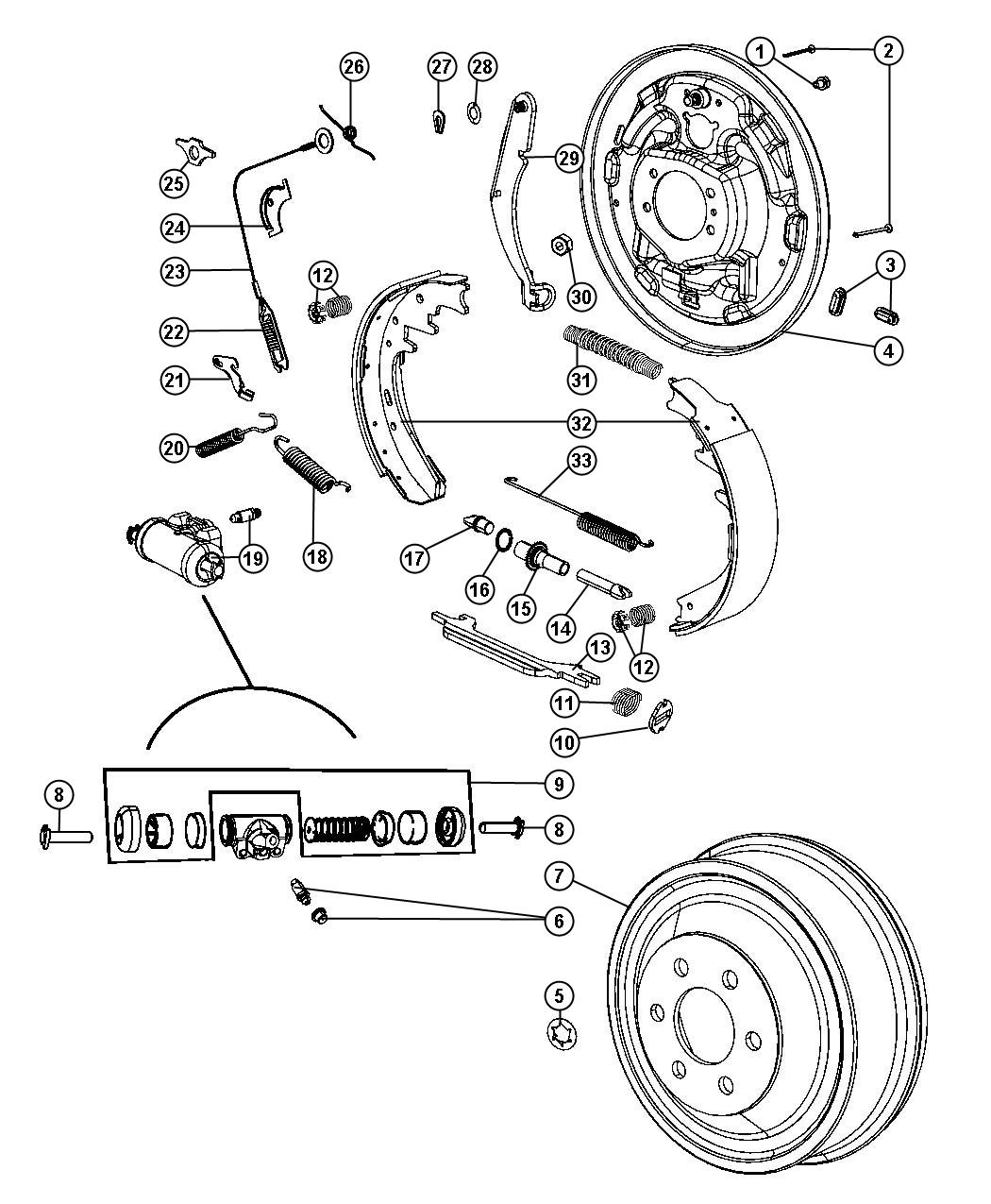 chrysler 8 25 axle diagram