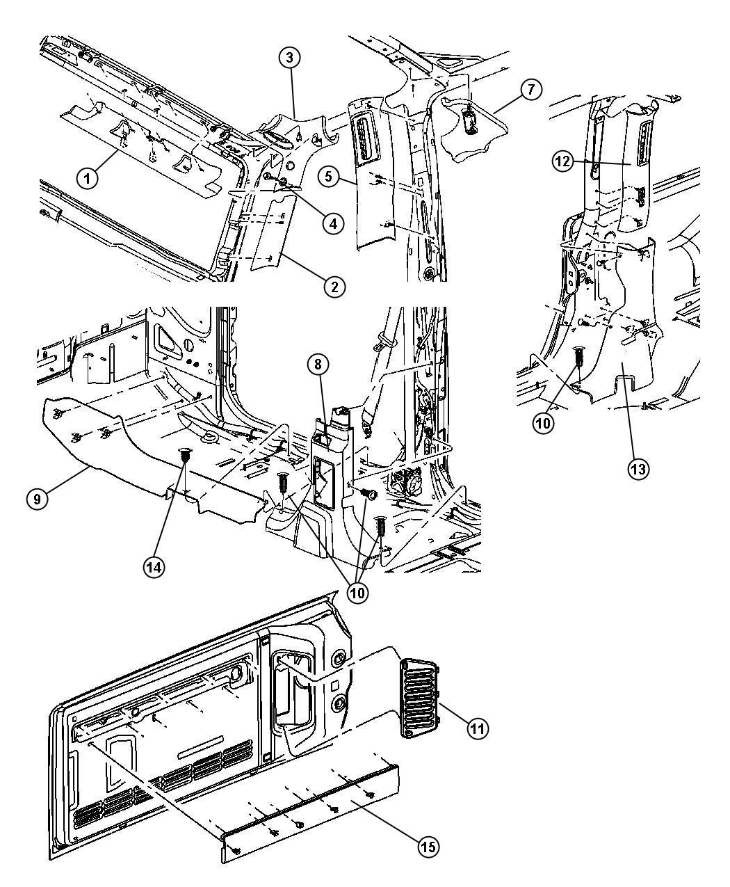 1986 jeep comanche wiring diagram set nos
