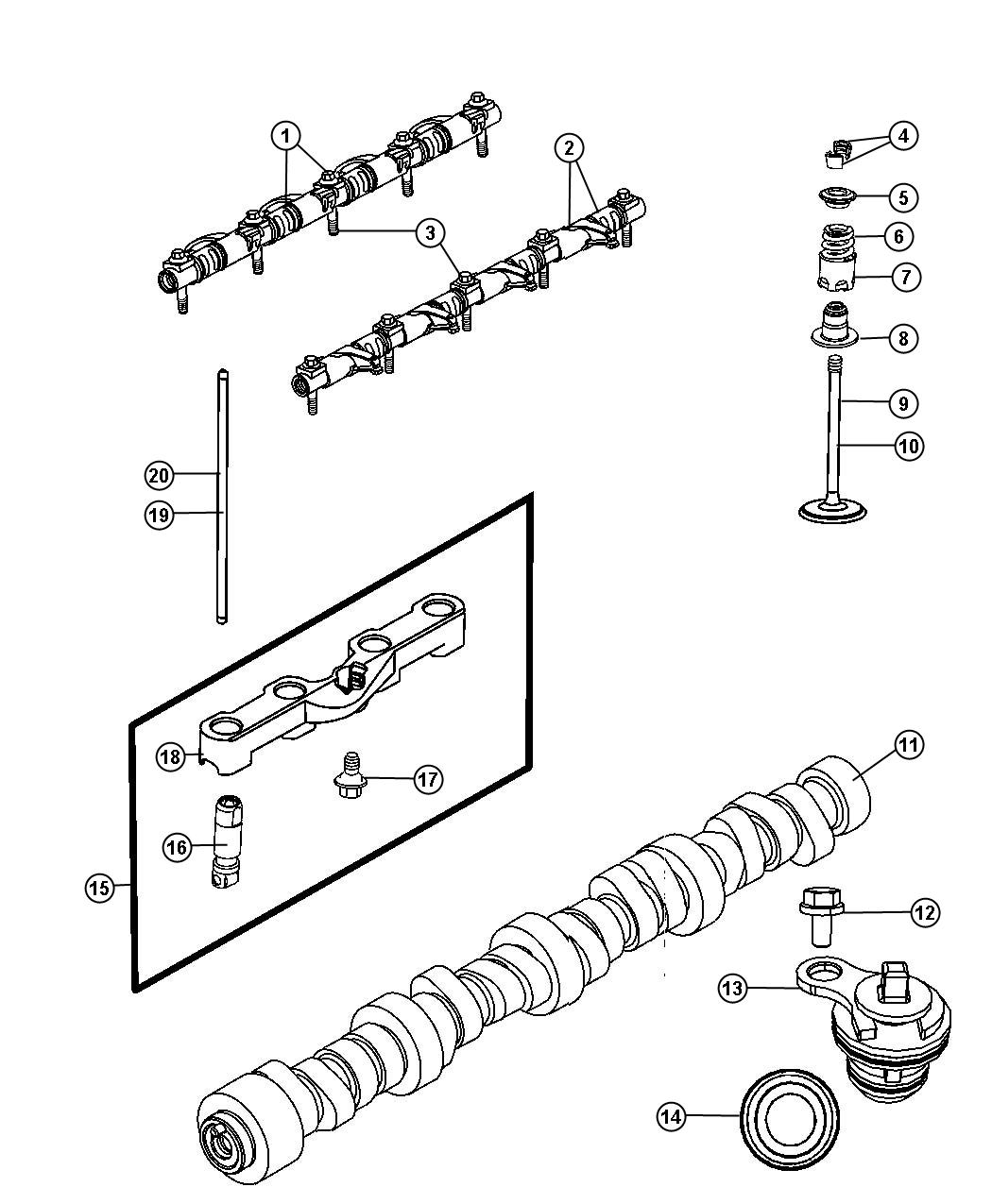 2008 Chrysler 300 Seal  Valve Guide  Exhaust  Intake