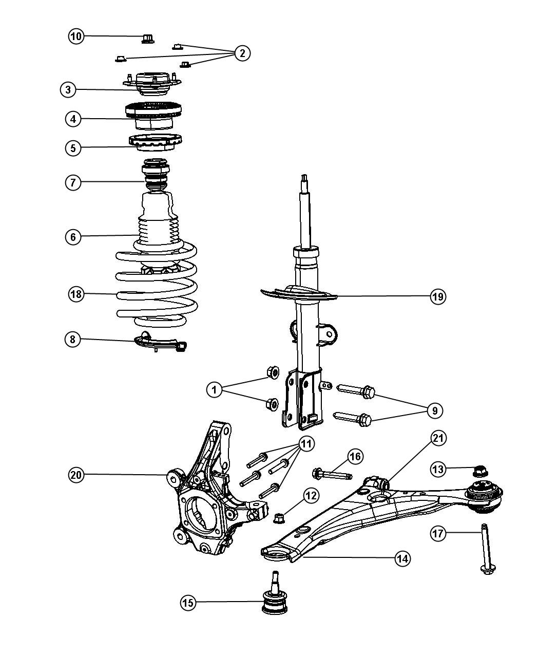 2002 Dodge Caravan Suspension Diagram
