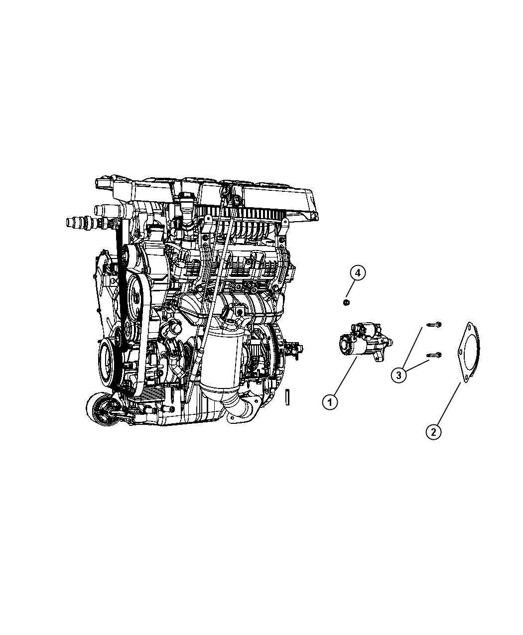 2010 Dodge Grand Caravan Starter  Engine