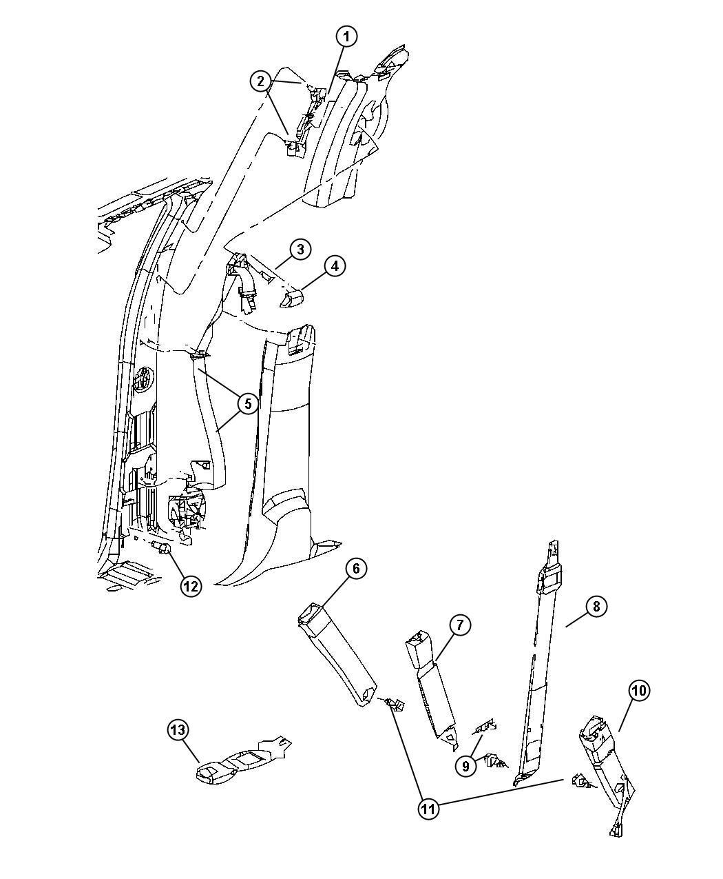 1JK691D5AA  MOPAR    Seat    belt Front outer Left  d5