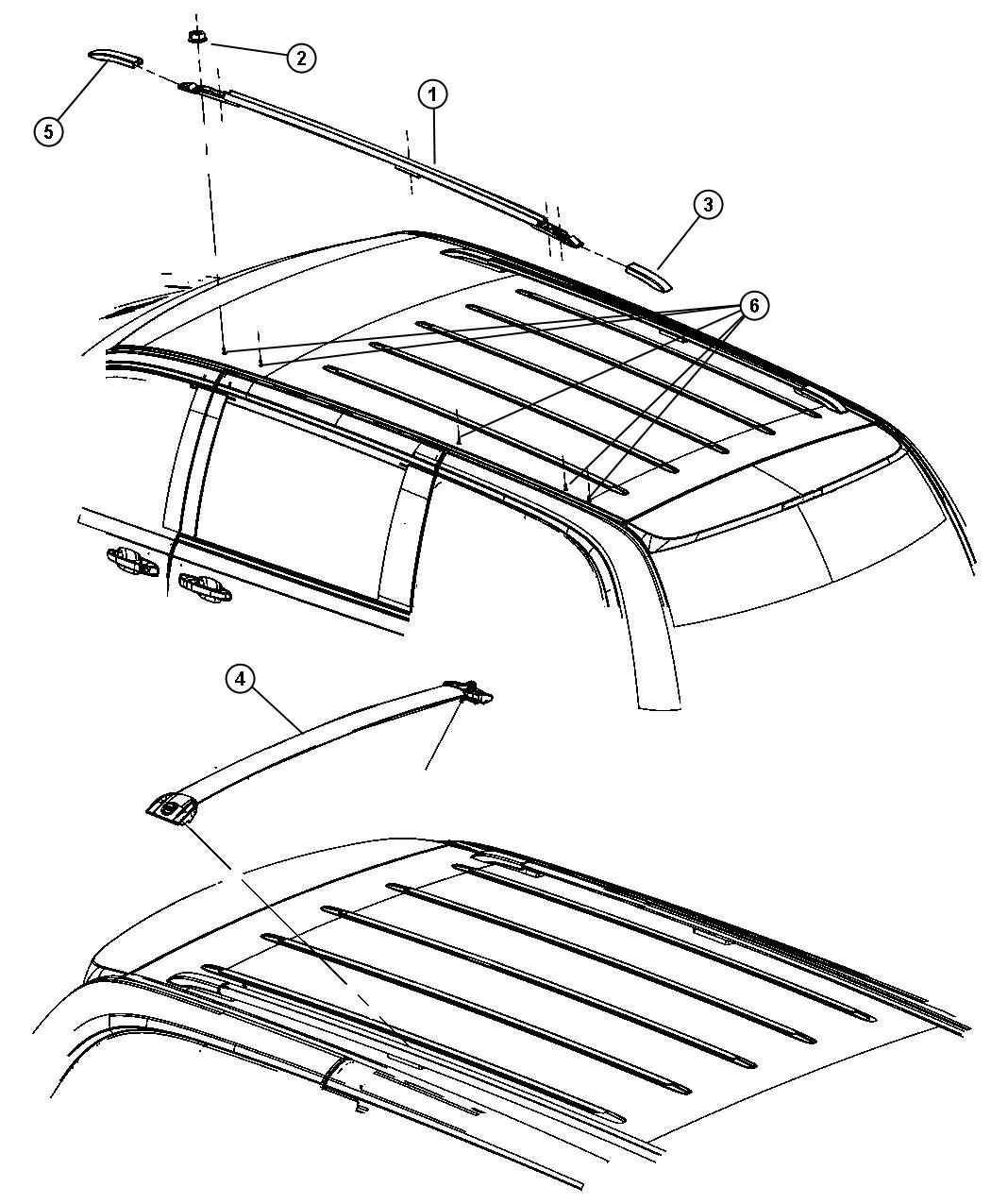 2008 Chrysler Town Amp Country Clamp Kit Roof Rack