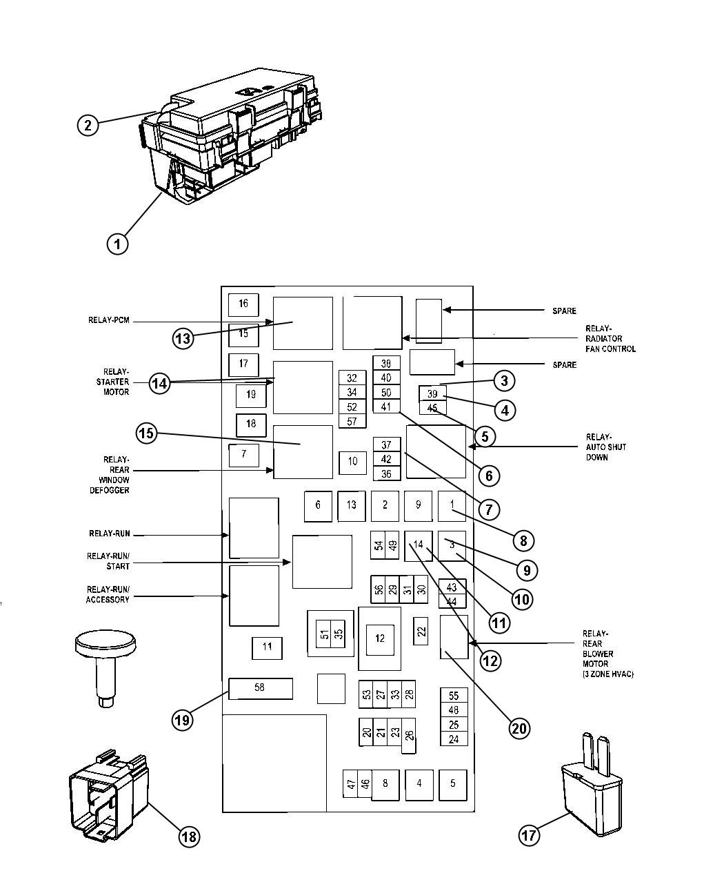 1989 Dodge Fuse Box Diagram - Wiring Schematics on