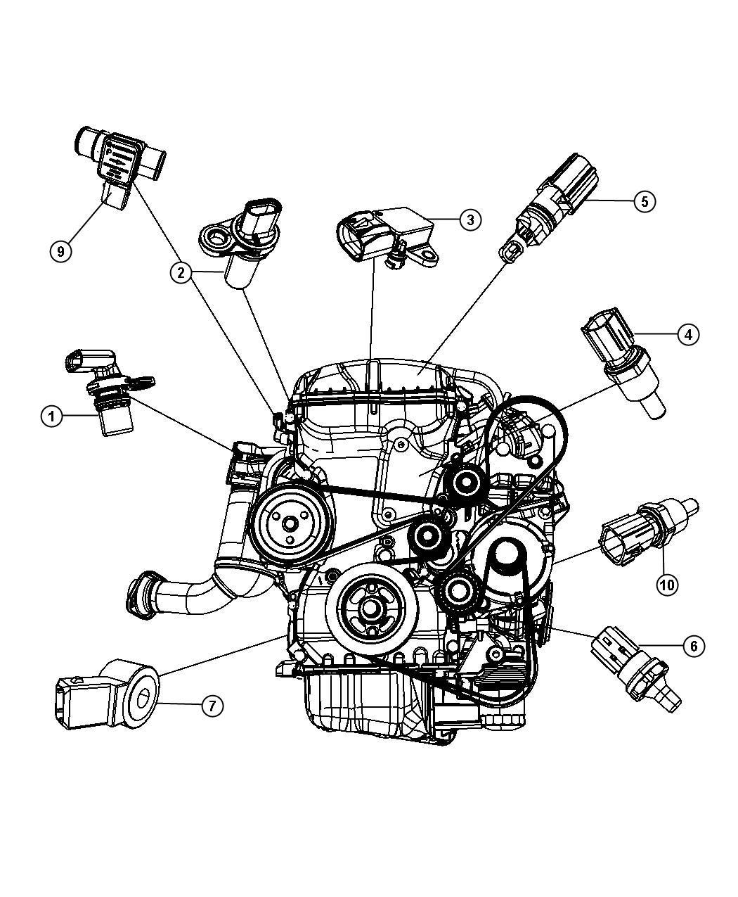 2010 Dodge Avenger Transmission: Sensors, Engine