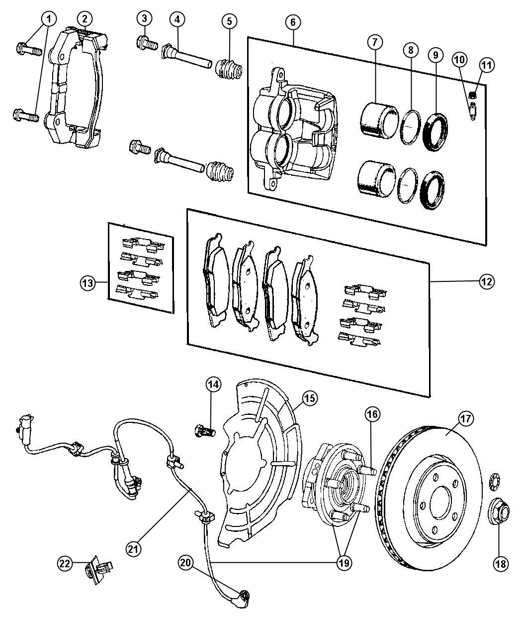 ford mustang brake caliper diagram