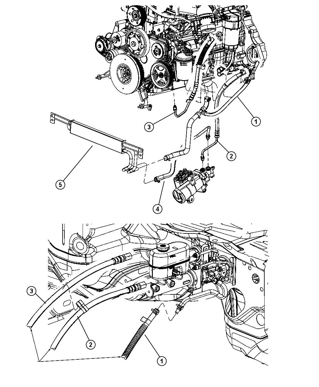 Dodge Ram 2500 Power Steering Hose Diagram