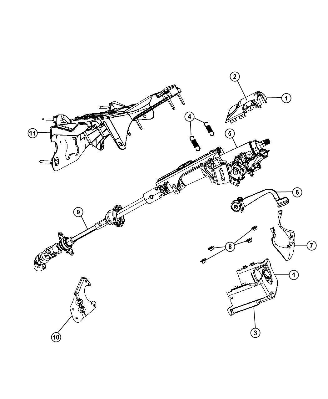 service manual  steering column removal 2010 jeep liberty