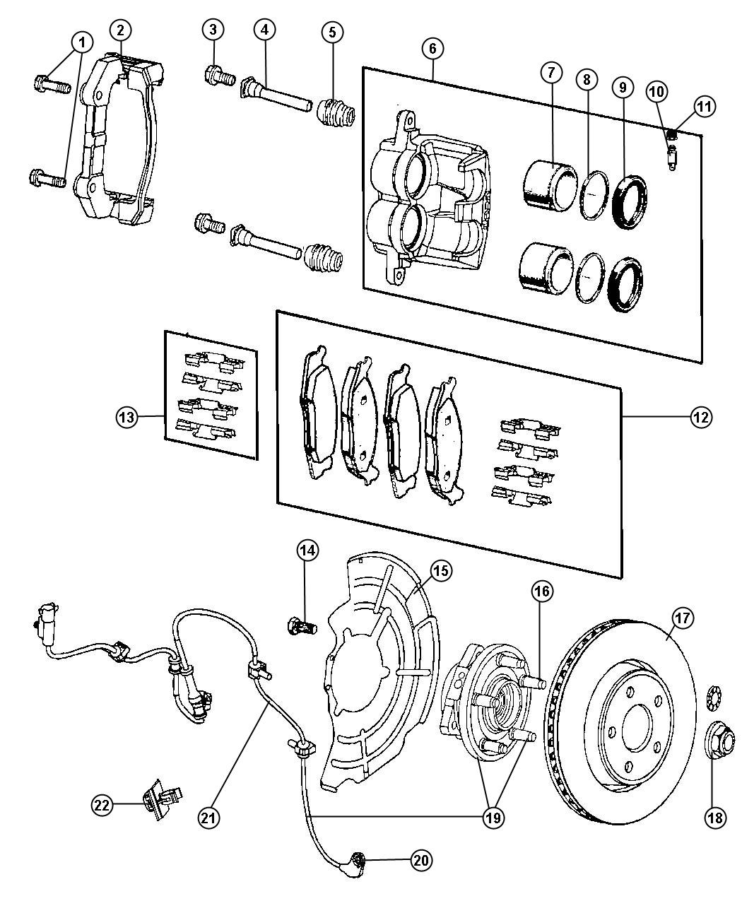 2008 jeep grand cherokee rotor  brake  front  rotors  enginesexoall