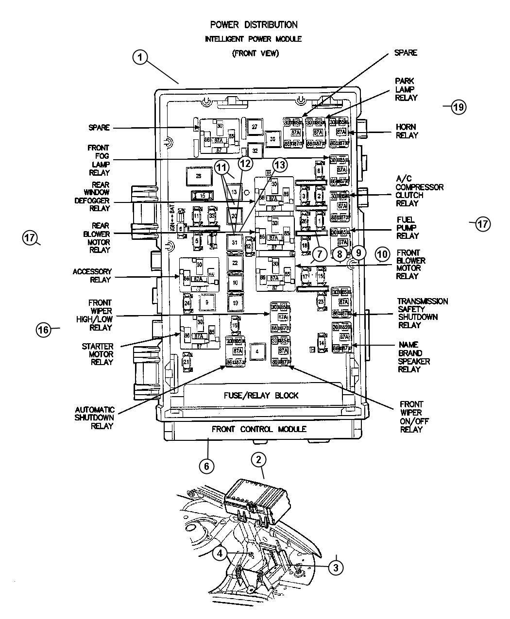 Chrysler Aspen Relay  Radiator Fan  Located On Bumper Beam