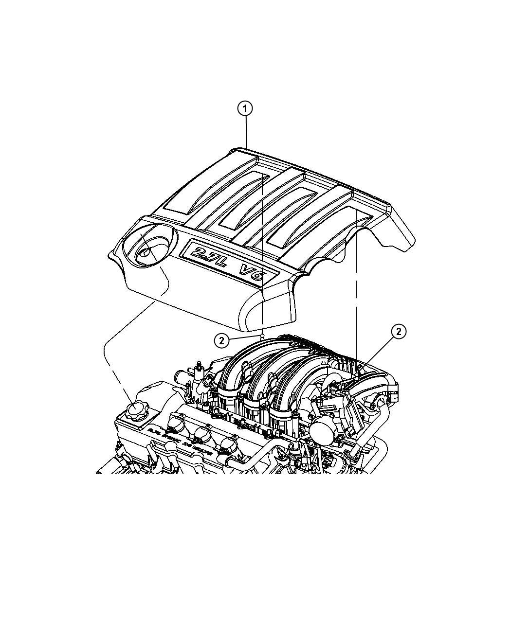 2008 Chrysler Sebring Cover  Engine