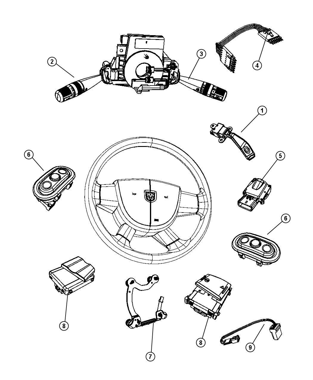 Dodge Nitro Horn And Steering Wheel Buttons Forum Reverse Light Wiring Diagram Are You Talking About Replacing Switch 04685728ab As Shown 6 Right Side In This Image