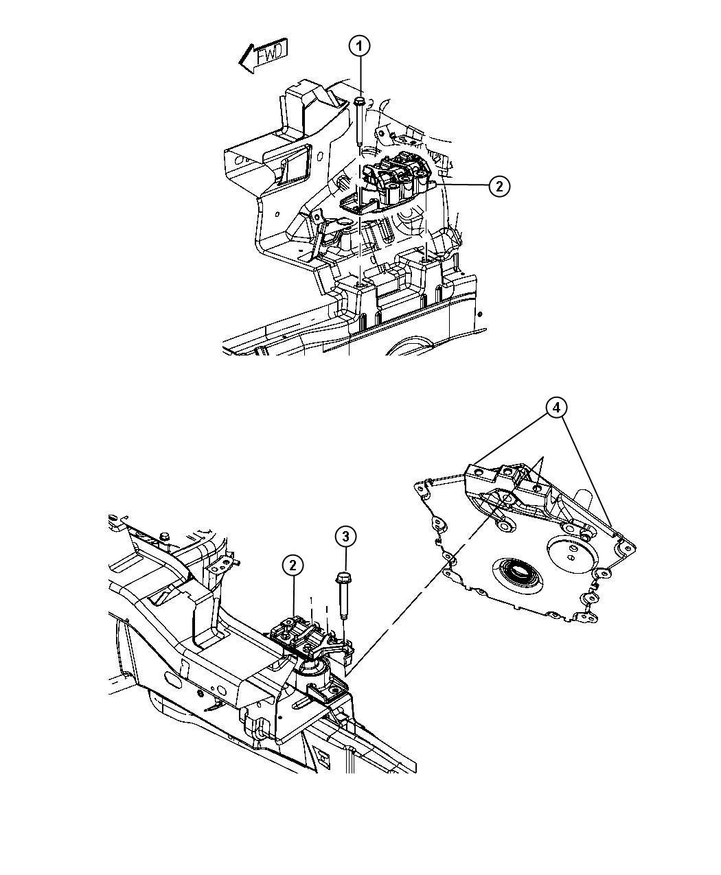 05171071AC - MOPAR Isolator. Right side | Factory Chrysler ...
