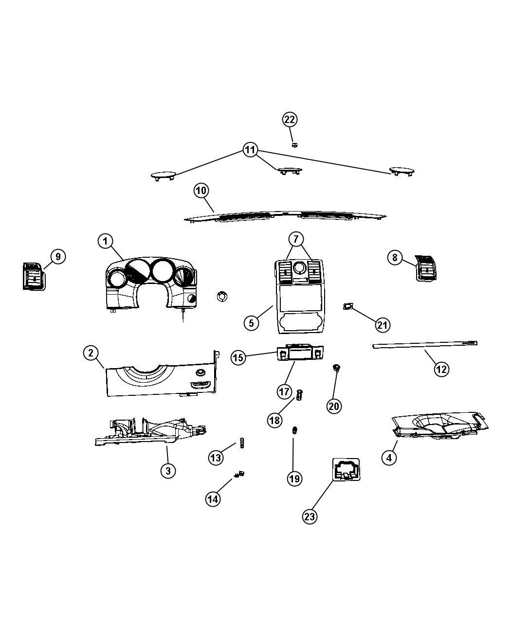 Dodge Ram 2500 Instrument Panel Trim