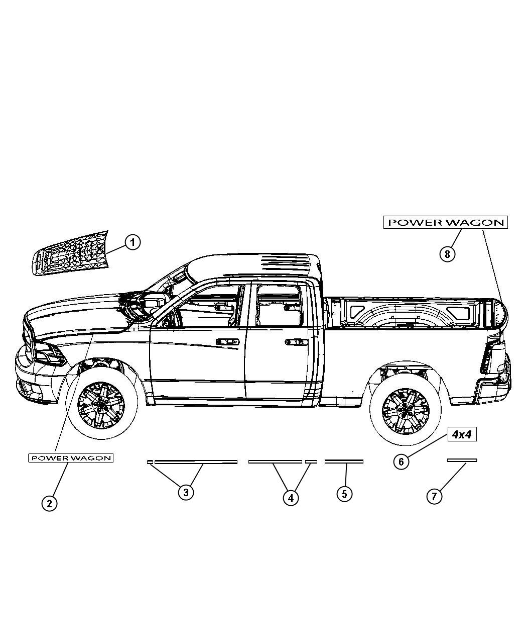 decals power wagon selected part 05182406aa decal right box side. Cars Review. Best American Auto & Cars Review