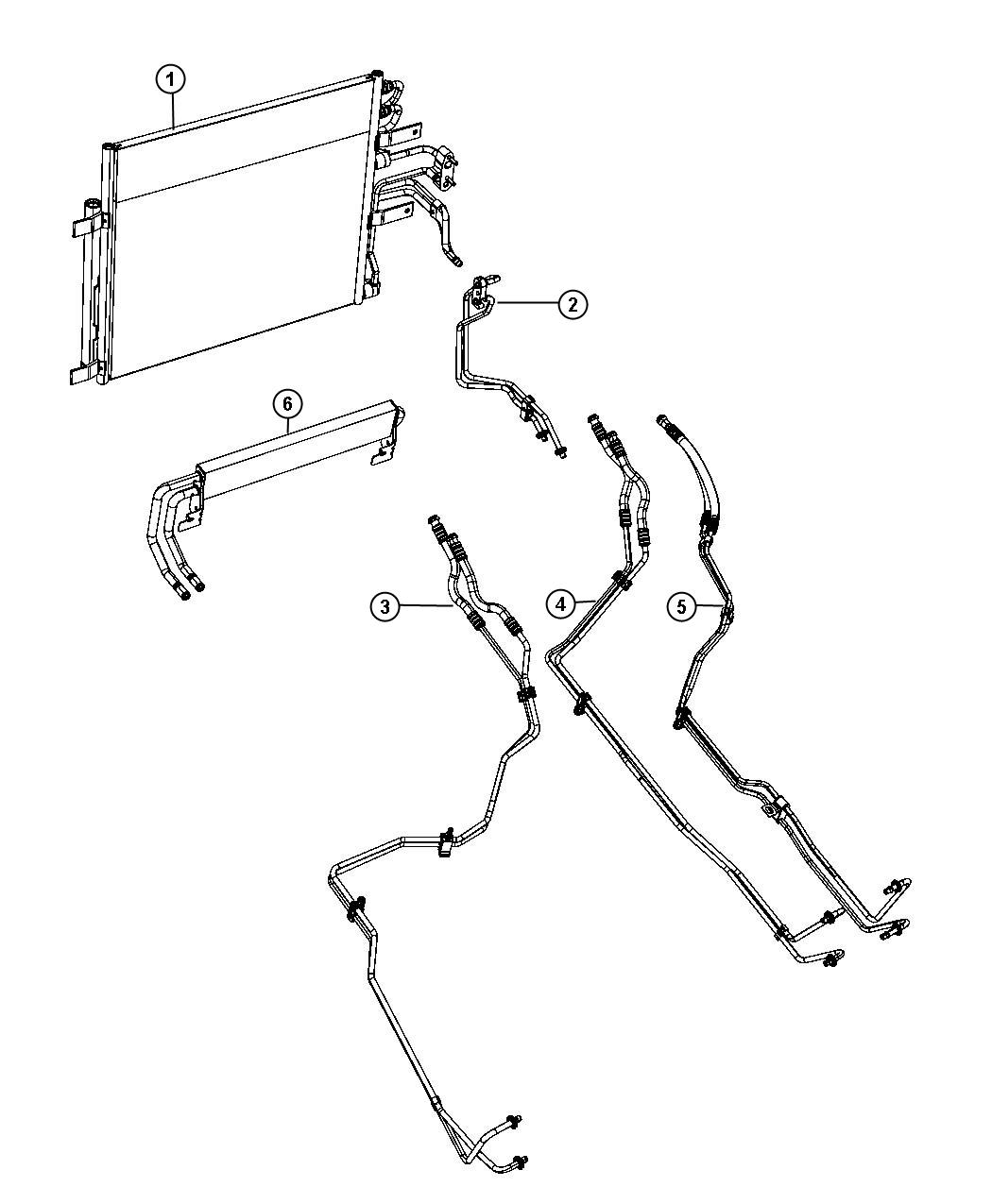 jeep grand cherokee transmission cooler lines