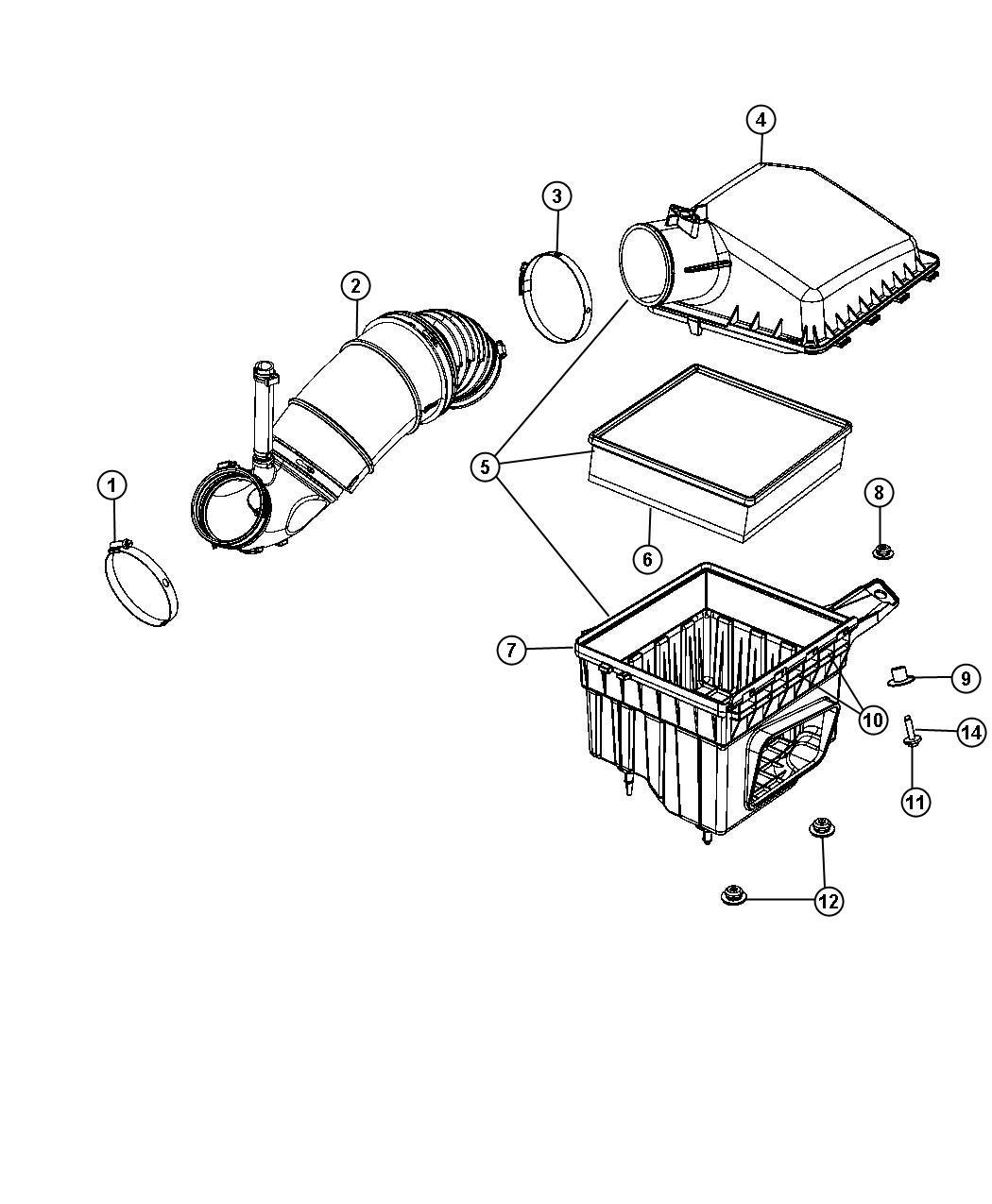 new genuine mopar 53034051ab air filter  air cleaner