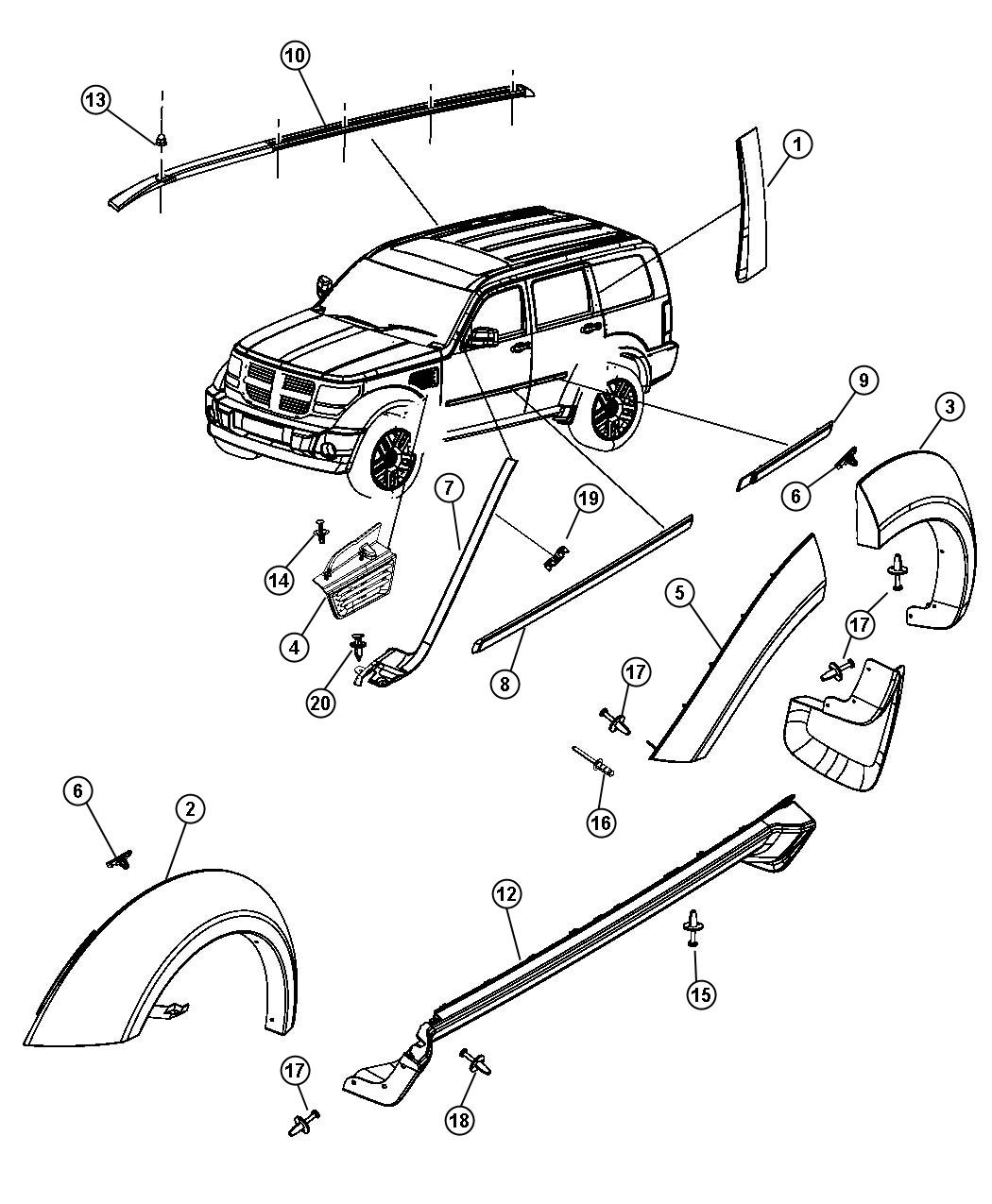 77A8252A3932165 besides ShowAssembly further Mopar Luggage Rack 1jq42rxfac in addition 94 Mazda B2300 Wiring Diagram in addition Roof Rail Install. on dodge nitro roof rack