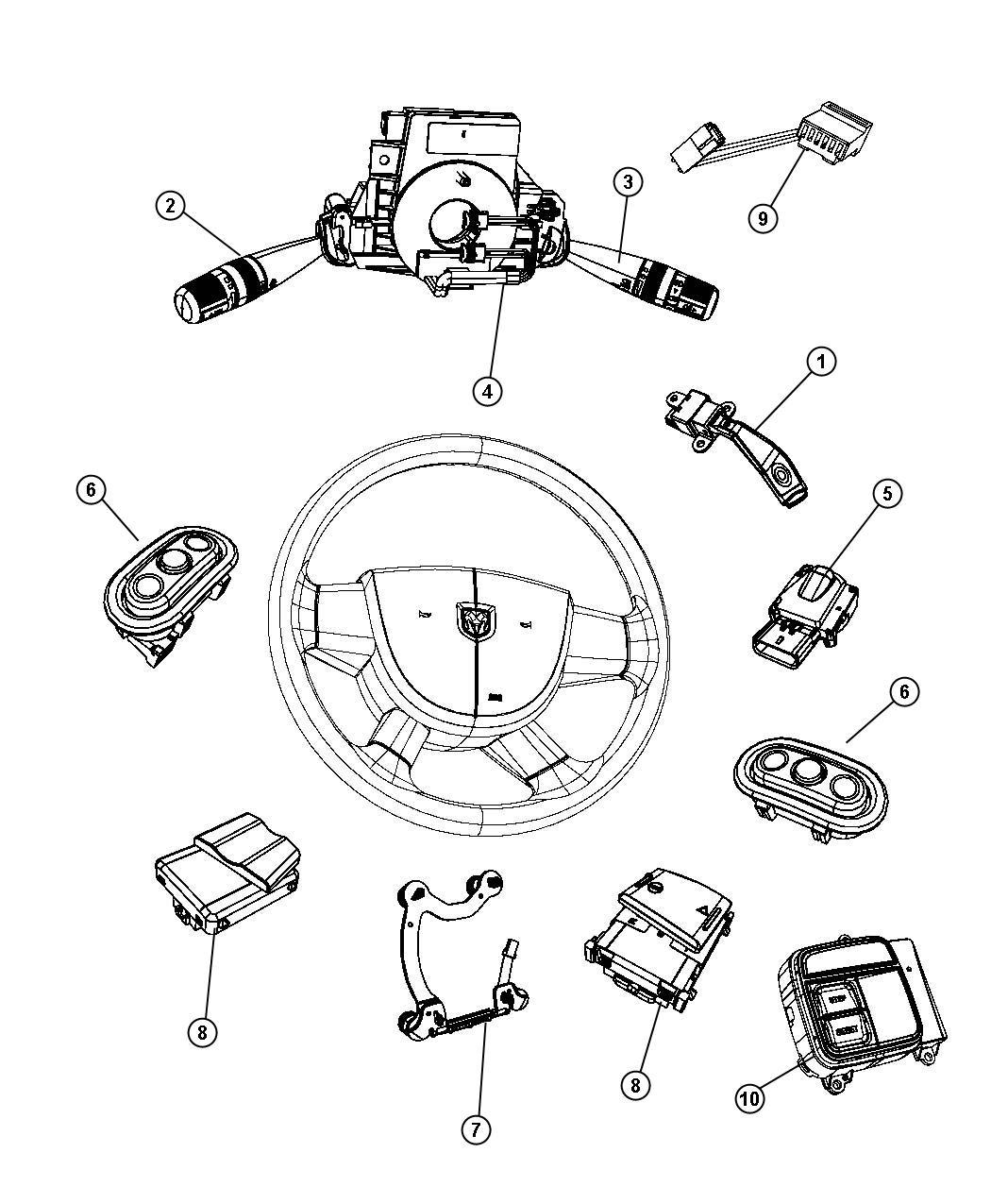 2013 dodge durango switch  radio control  left  trim   all trim codes