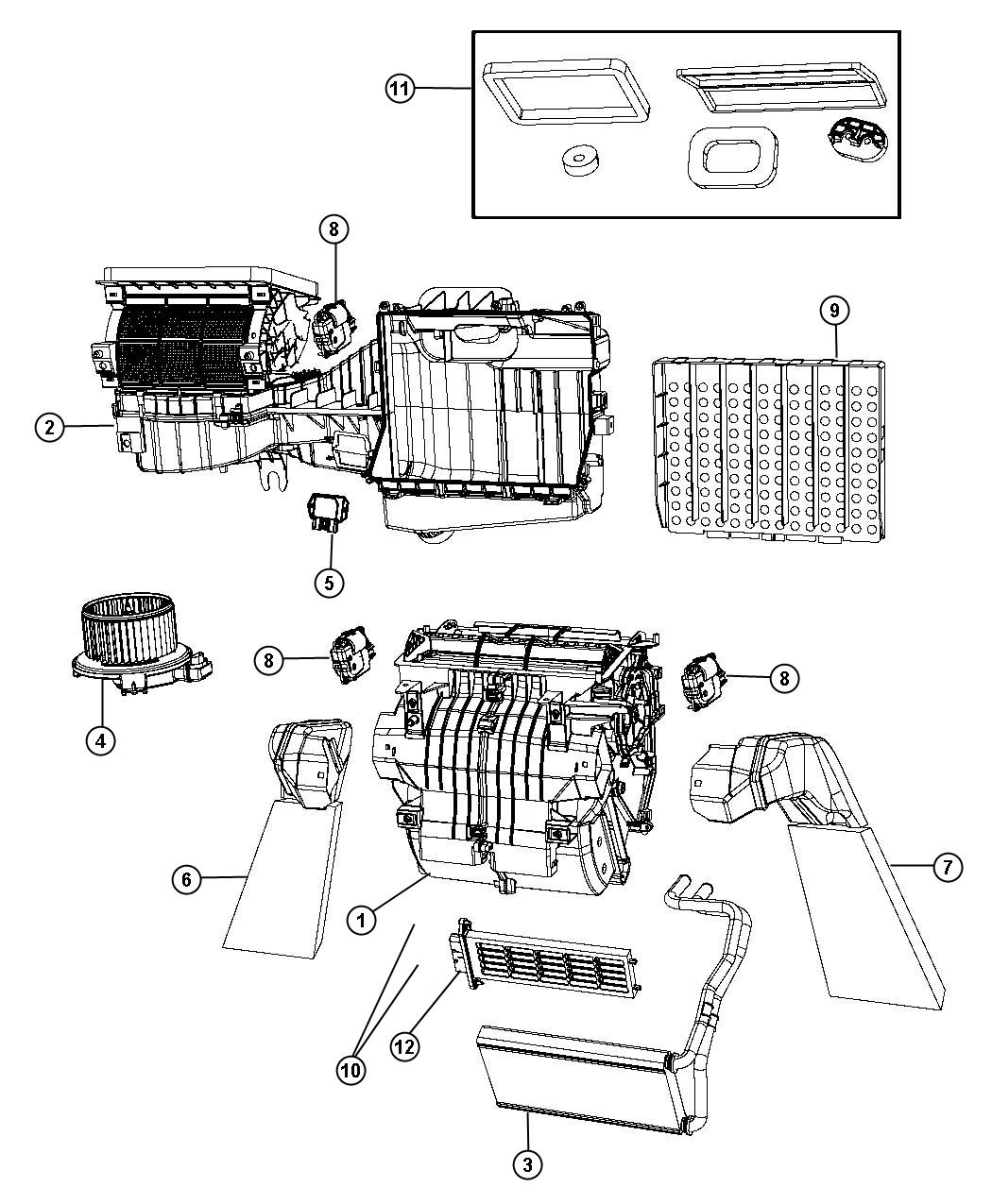Service Manual 2011 Jeep Wrangler Replace Heater