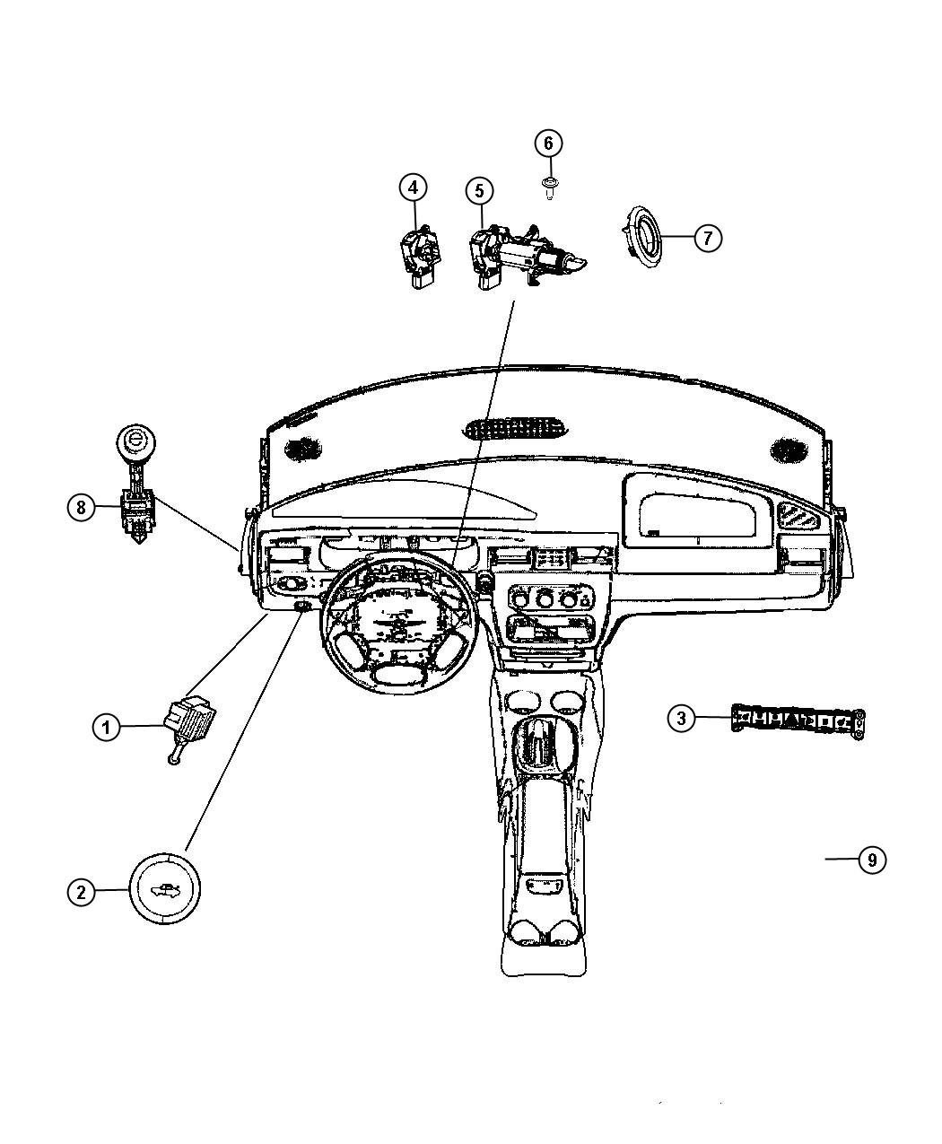2007 Chrysler Pacifica Switch. Ignition. Trim: (*o0 ...