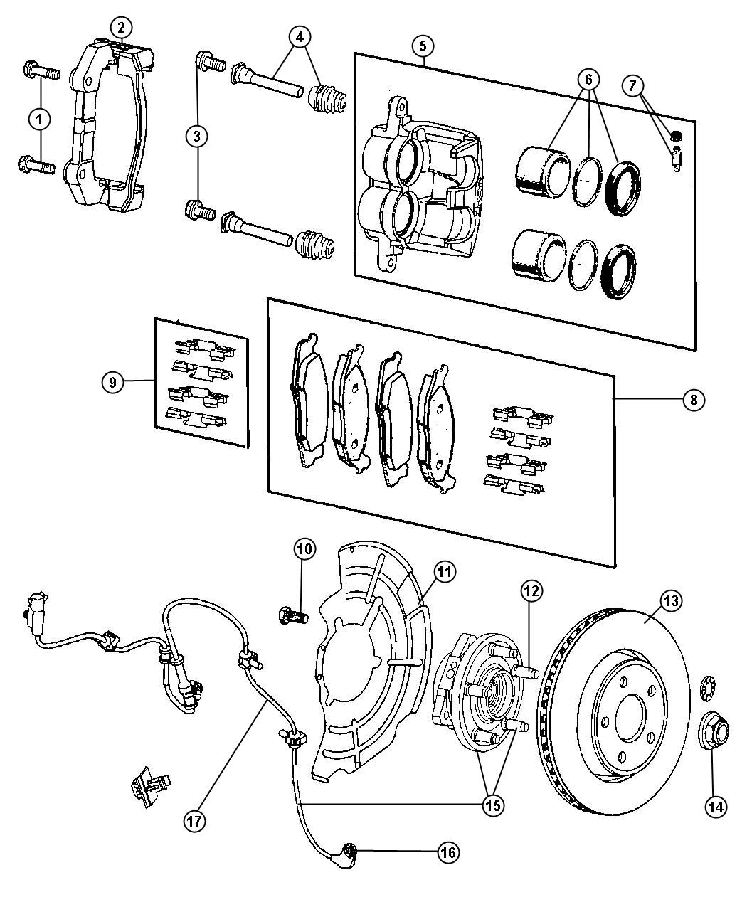 2013 jeep grand cherokee rotor  brake  front