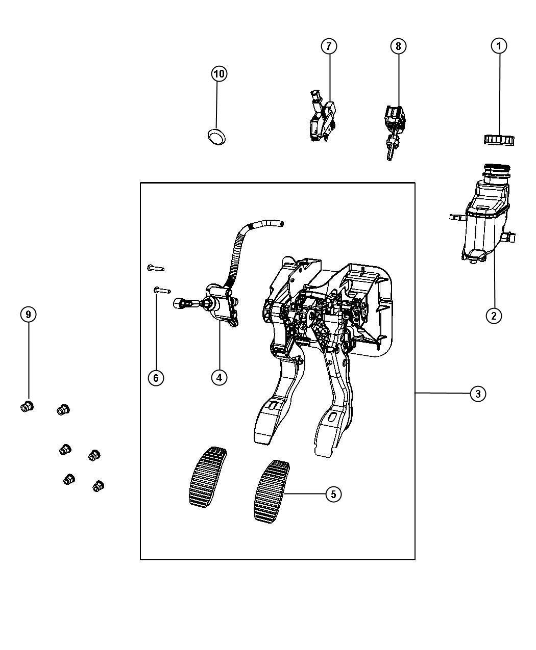 2017 jeep renegade switch  stop lamp  export  pedalclutchfwdrwdawd  pedalbrake