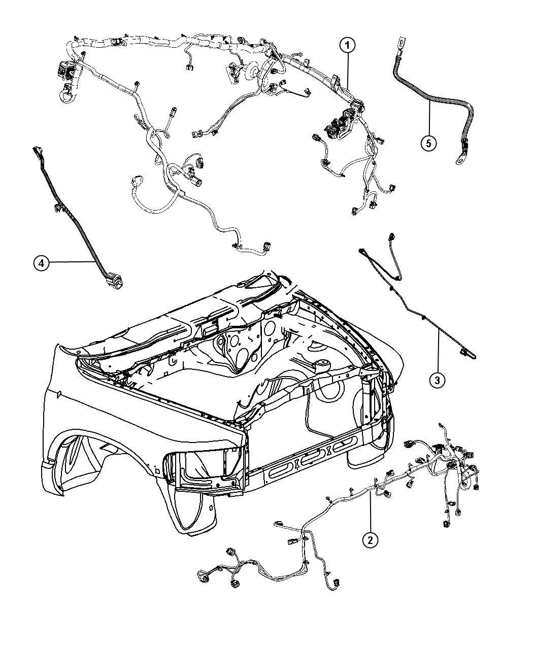 2012 Dodge Ram 1500 Wiring  Dash  Left