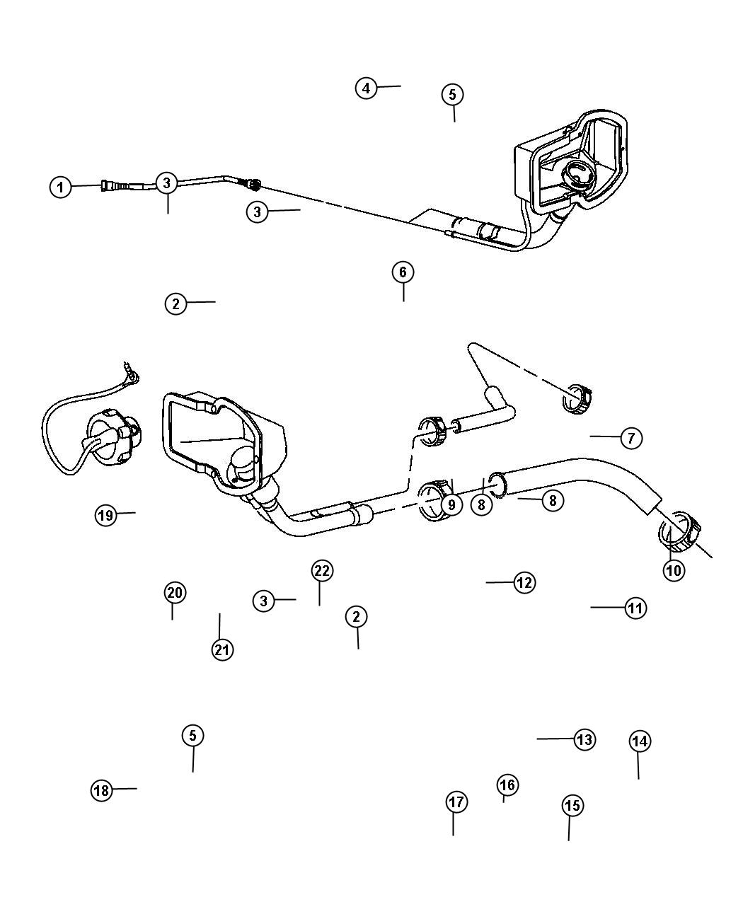 Diagram Fuel Filler Tube. for your 1998 Dodge