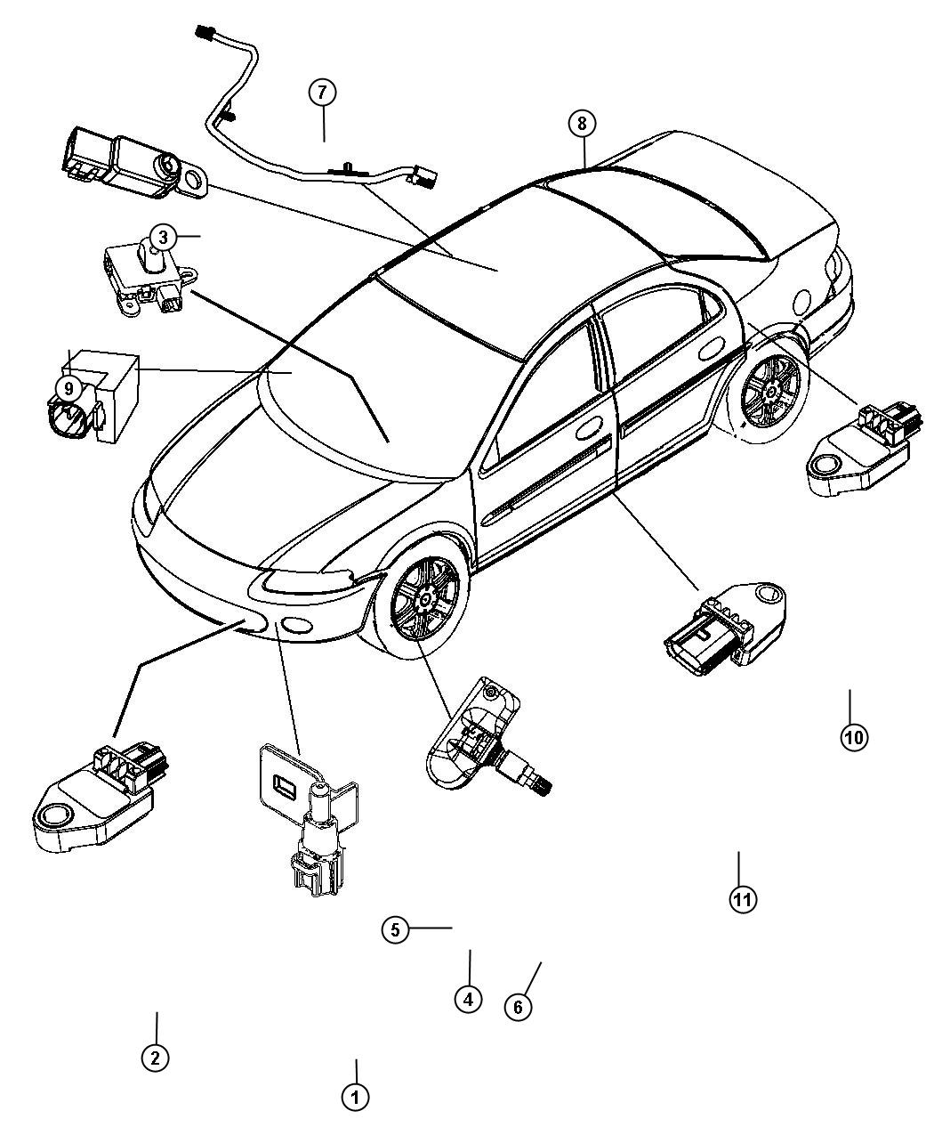 Chrysler 200 Sensor  Air Temperature  Temperature  Ambient