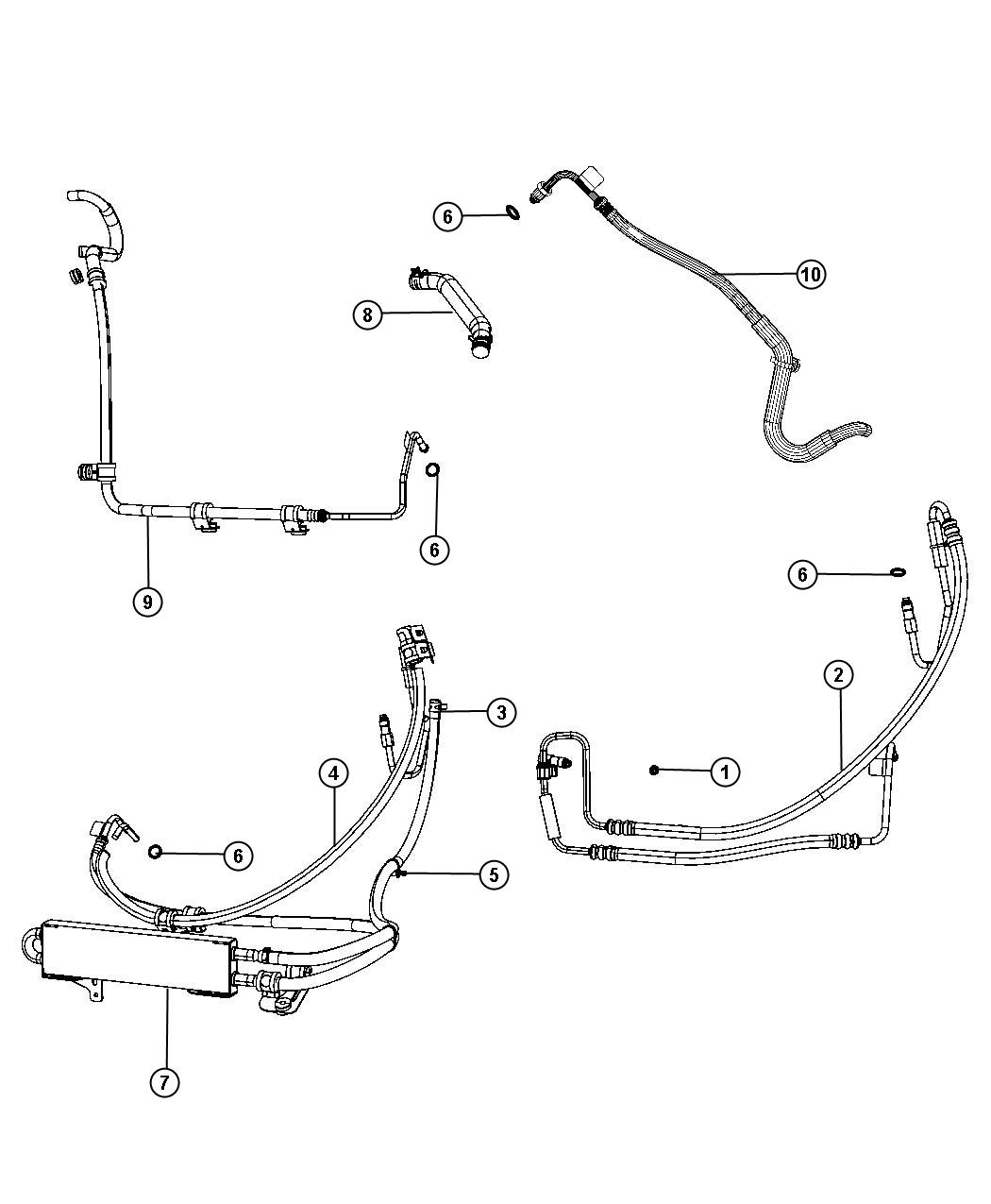 2006 jeep liberty power steering hose removal