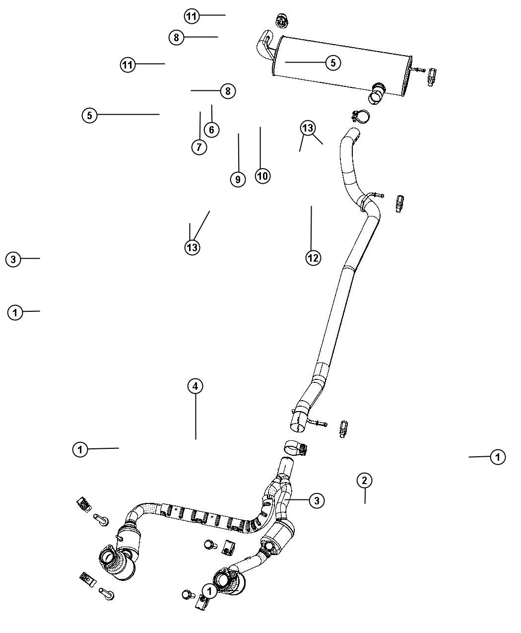 Jeep Wrangler Used For  Pipe And Converter  Exhaust
