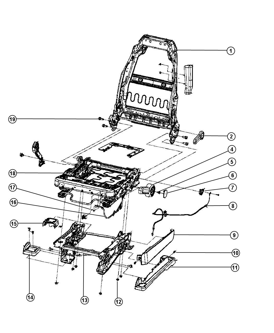 2012 jk jeep seat parts diagram