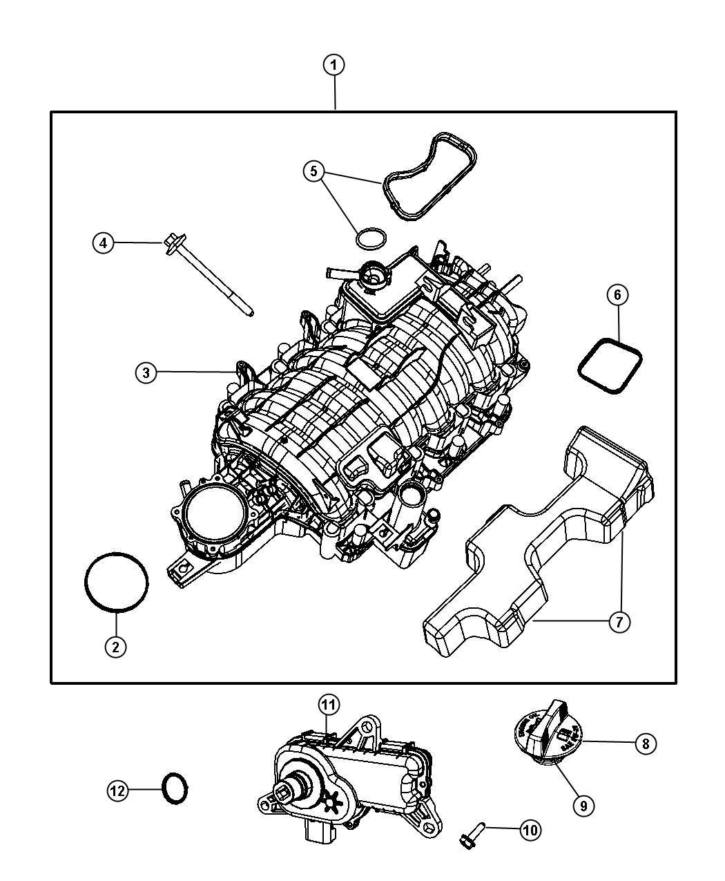 Dodge Ram 1500 Actuator  Intake Short Running Valve