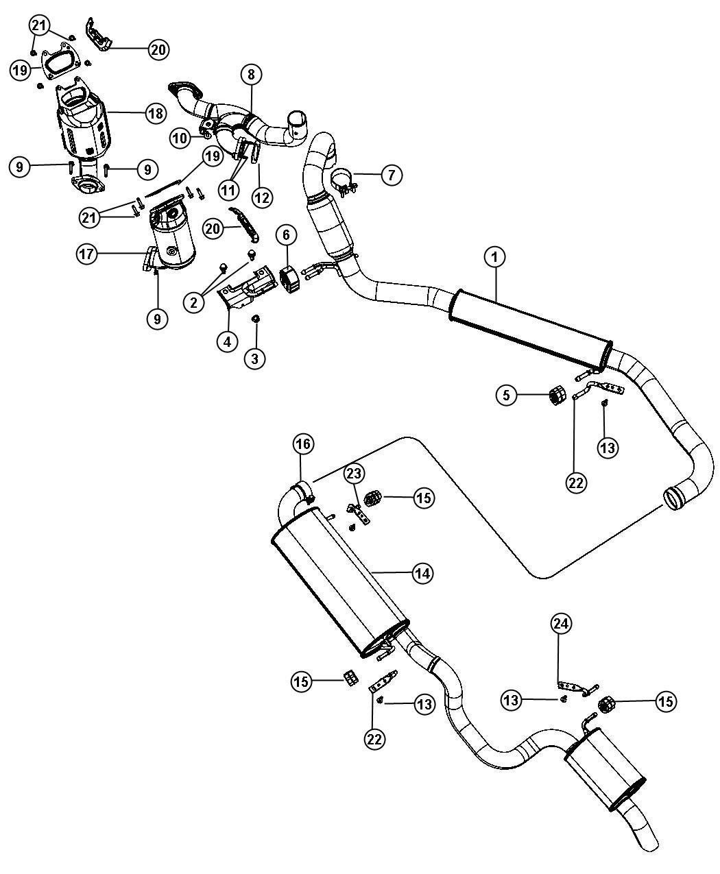 Dodge Grand Caravan Hanger. Exhaust. Resonator ...