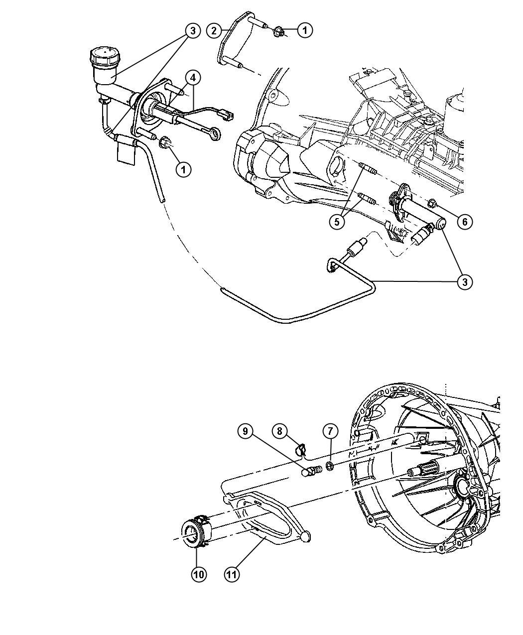 55398917AC - MOPAR Hydraulic assembly. Clutch master ...