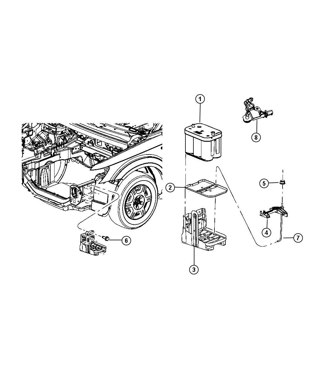 Dodge Journey Sensor  Battery  Ibs