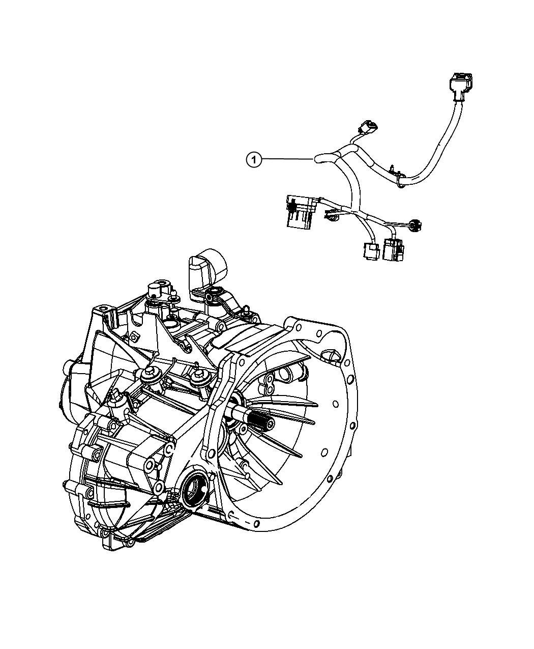 Chrysler 200 Bracket  Transmission Wiring Support