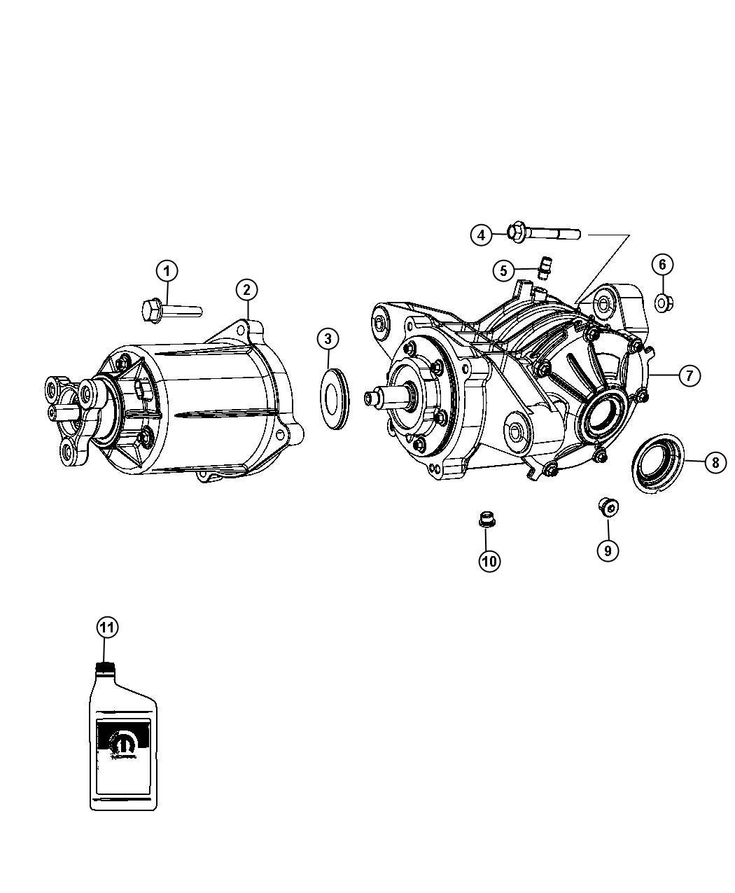dodge journey bdorc  viscous unit kit  rear axle  bdorcviscous