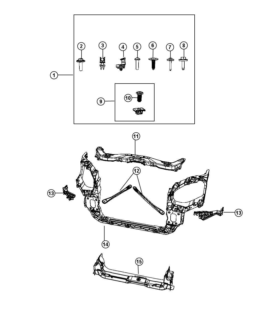 service manual  fender to radiator brace removal 2011
