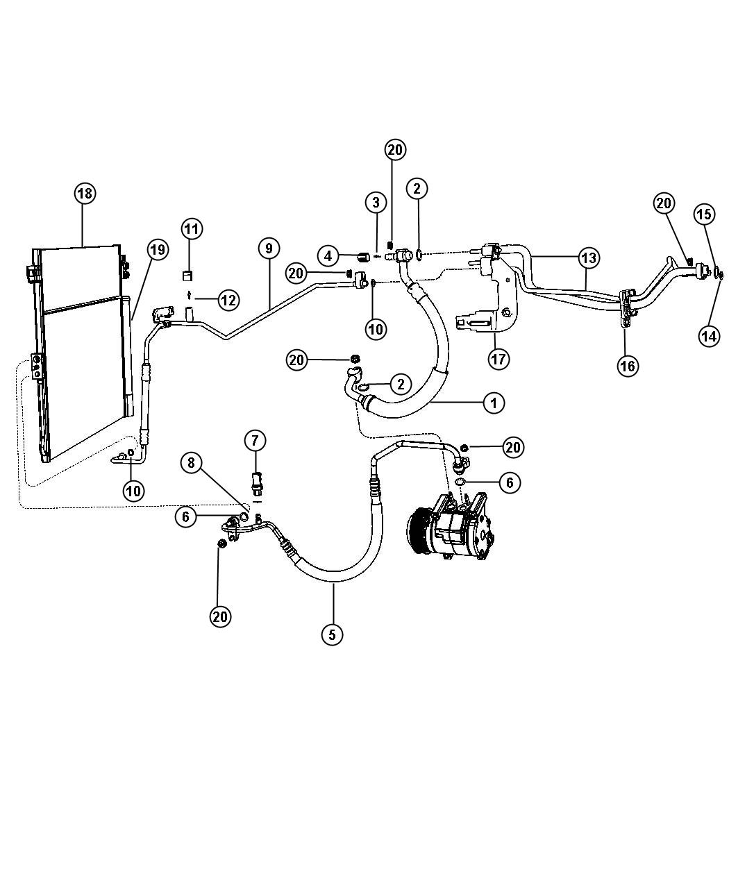2013 Jeep Cap  A  C Charge Valve   R1234yf A  C Refrigerant