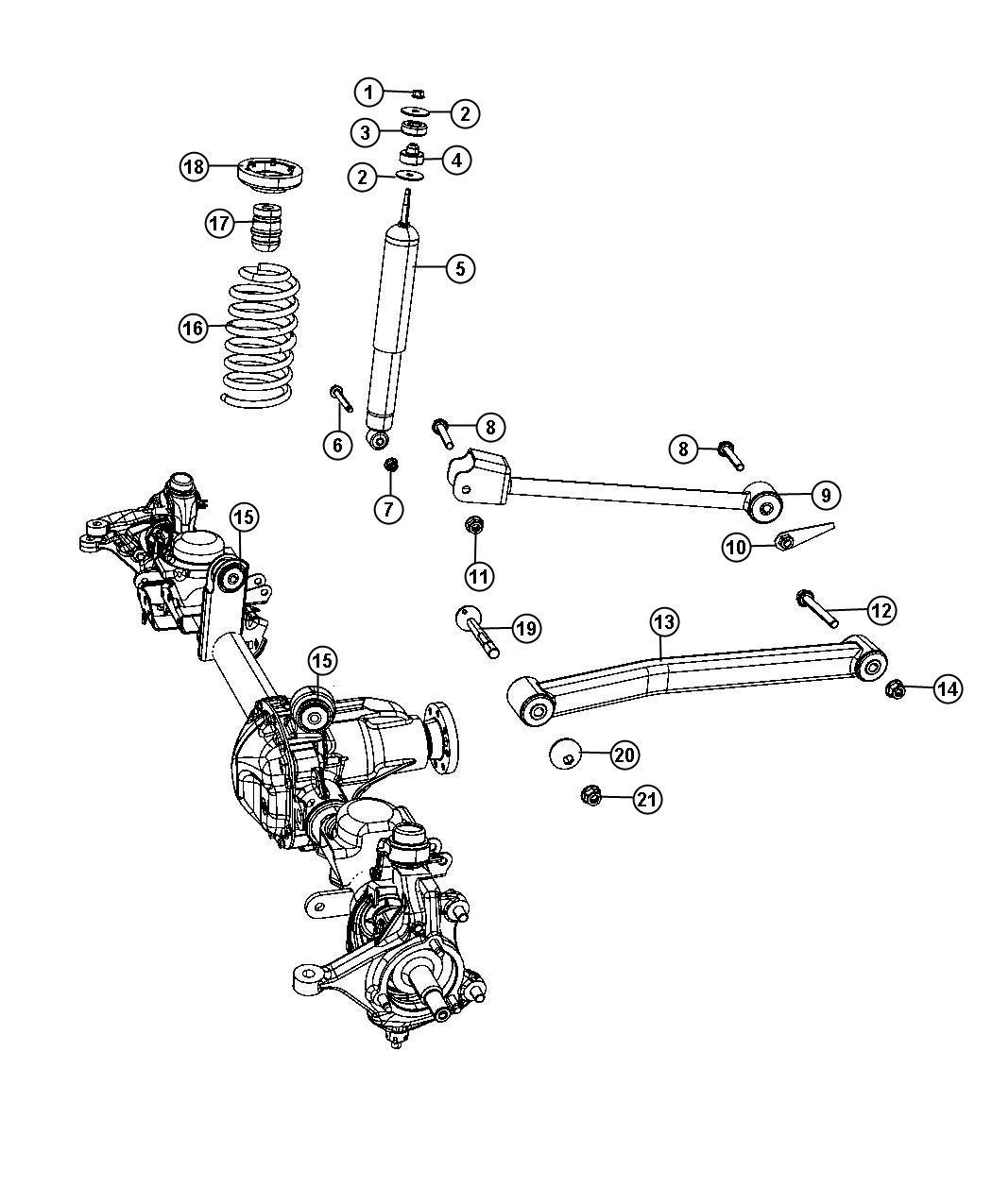 2013 jeep wrangler suspension front springs shocks for Suspension sdb