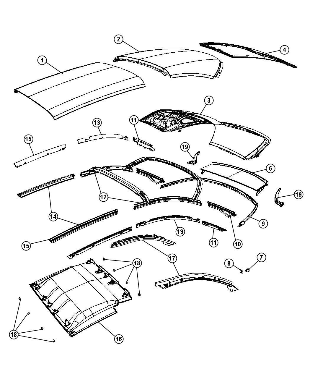 2013 Chrysler 200 Panel  Folding Top Rear  Color   No