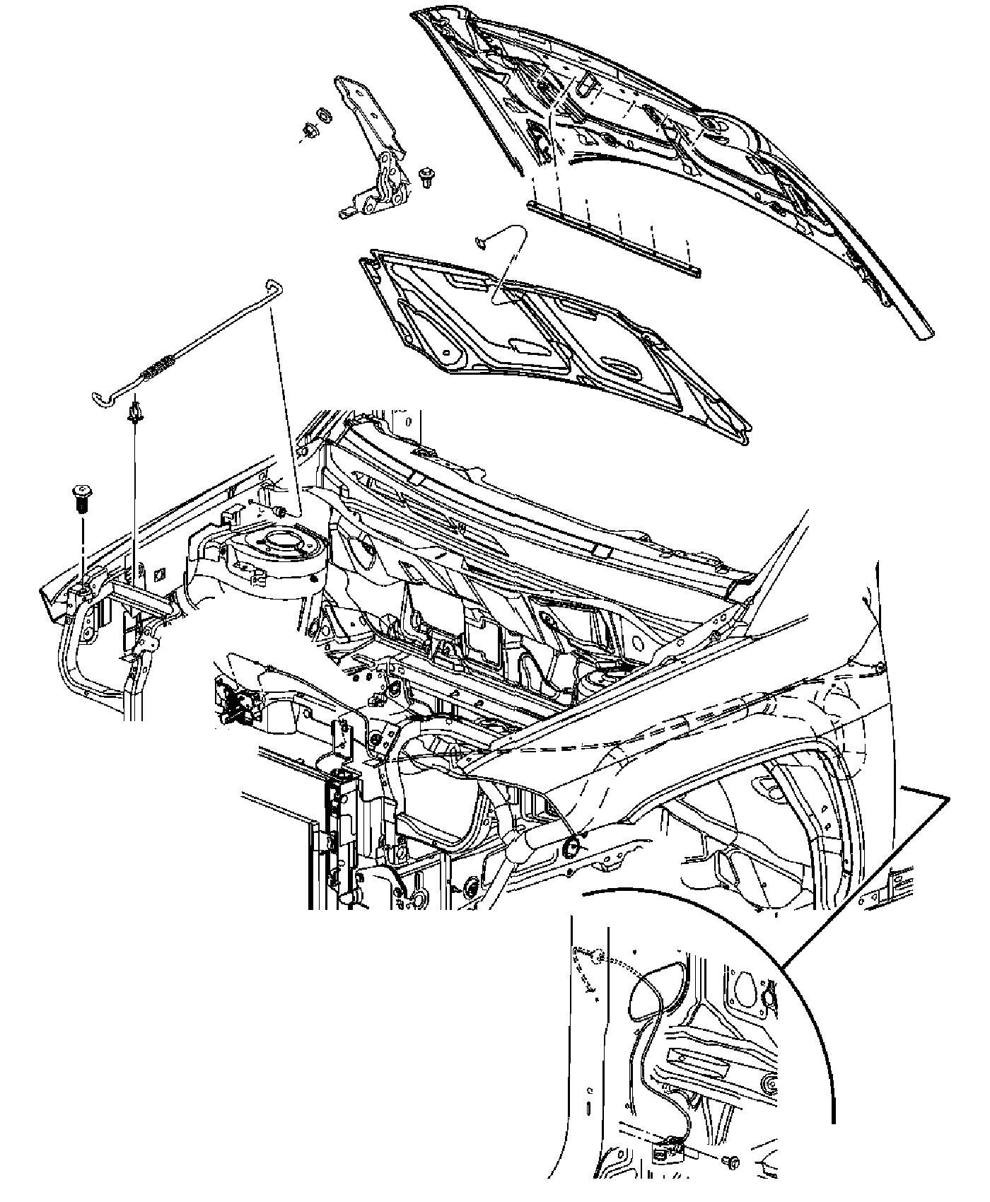 2015 jeep compass latch  hood  left