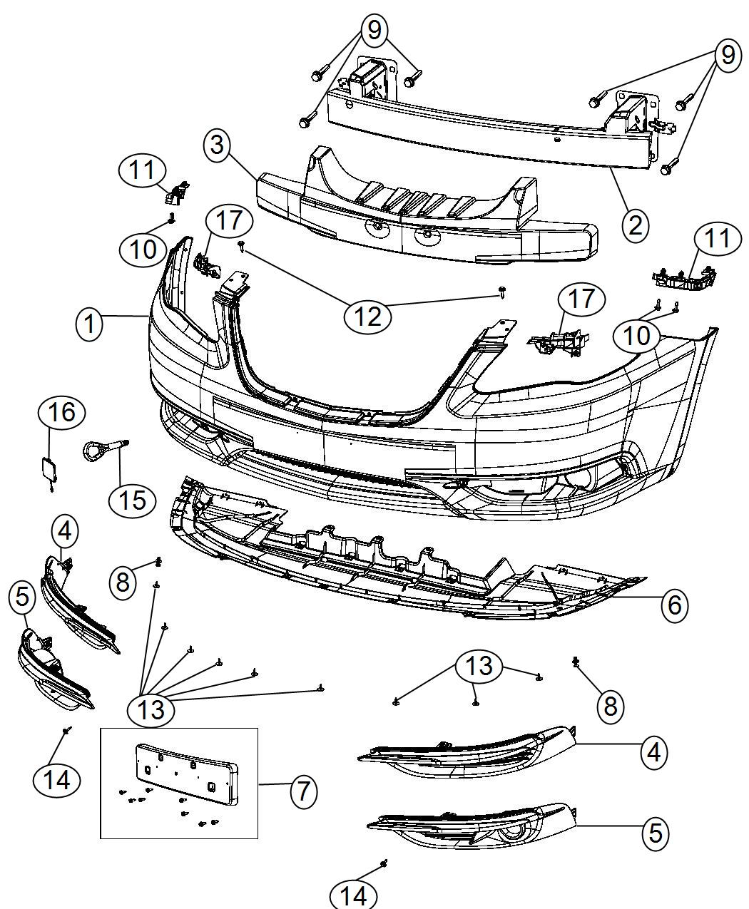 Chrysler 200 Bracket  Left  Fascia