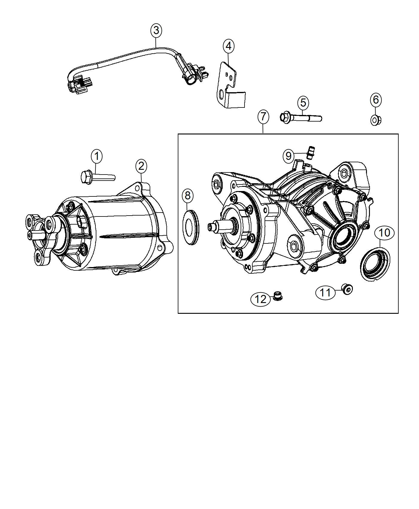 Axle Assembly. Diagram