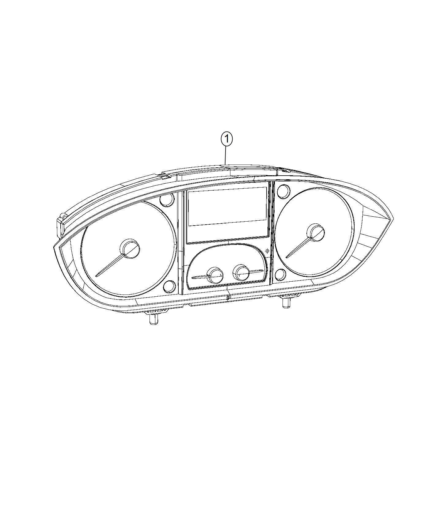 2016 Dodge Ram 2500 Cluster  Canada  Instrument Panel
