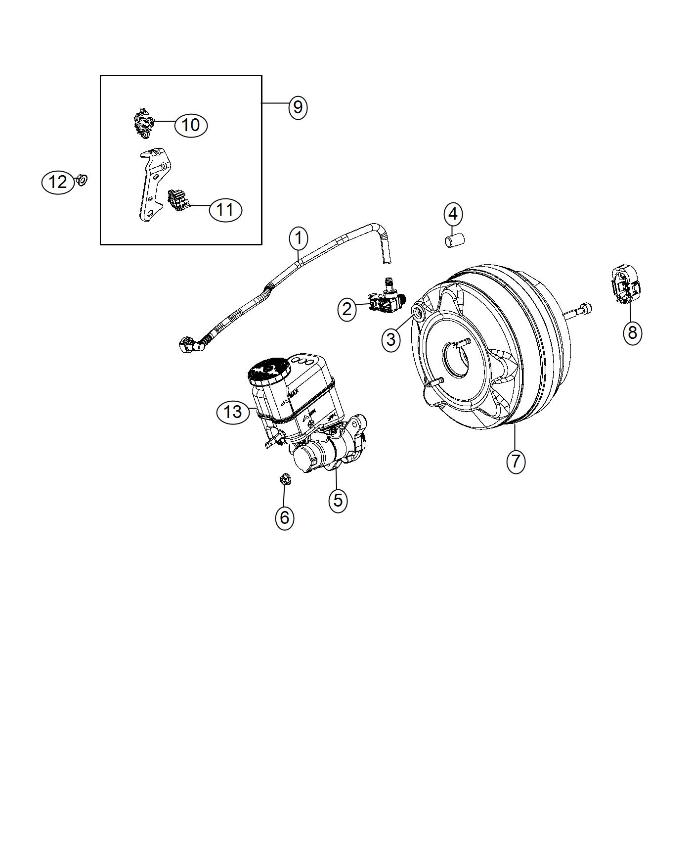 2013 Jeep Wrangler Valve  Brake Booster Check  Left Hand Drive  Right Hand Drive